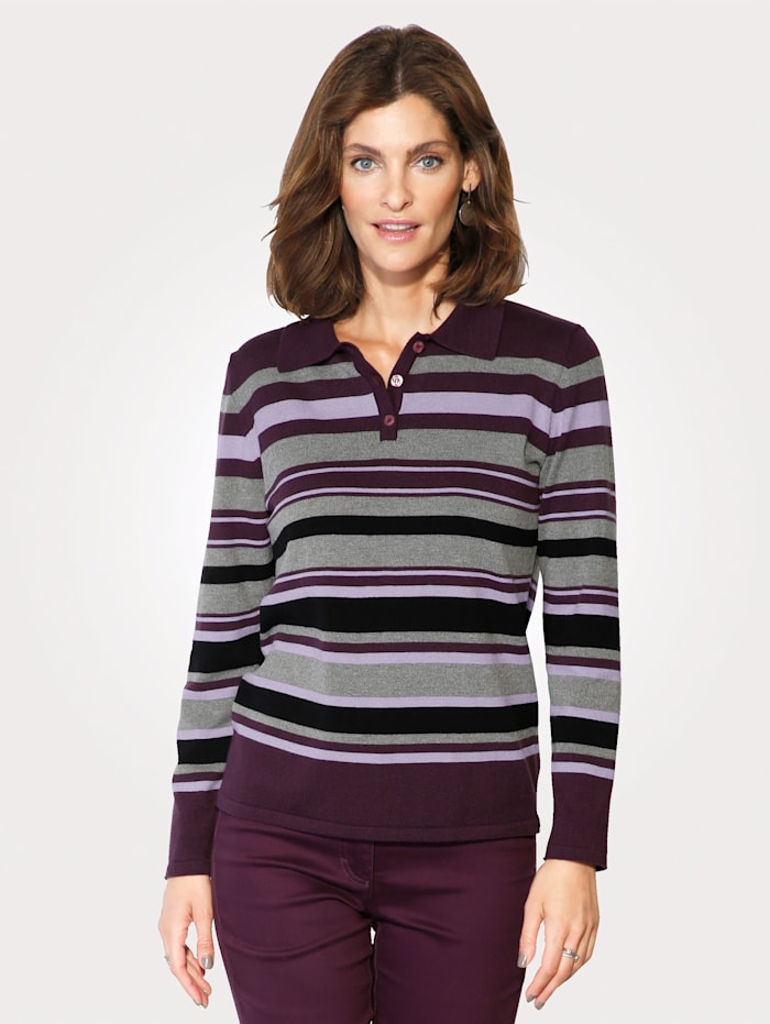 Jumper with stripes