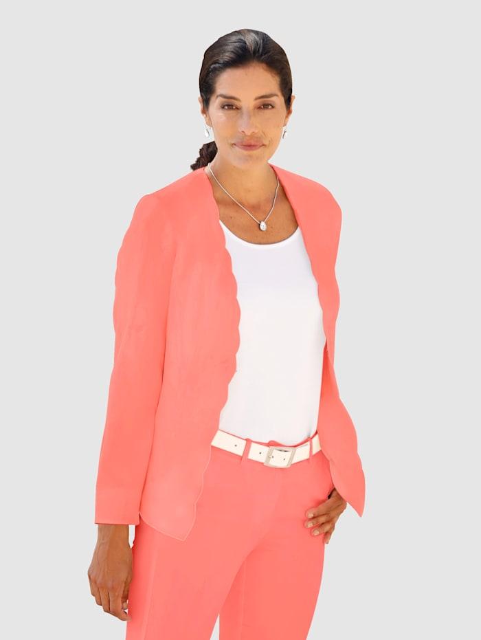 Diemer Diamant Blazer mit Wellenkante, Pink