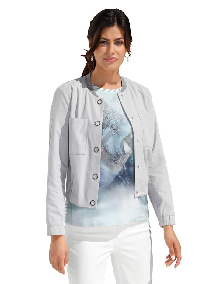 Betty Barclay Jacke mit großen Brusttaschen, Grau