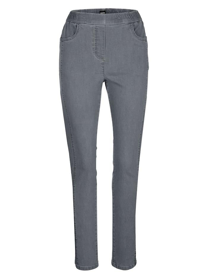 Jeans met flatterende lengtenaad voor