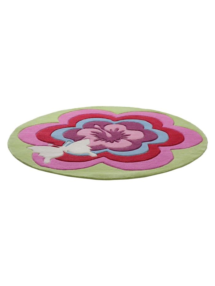 Esprit Esprit Teppich Fantasy Flower, pink grün
