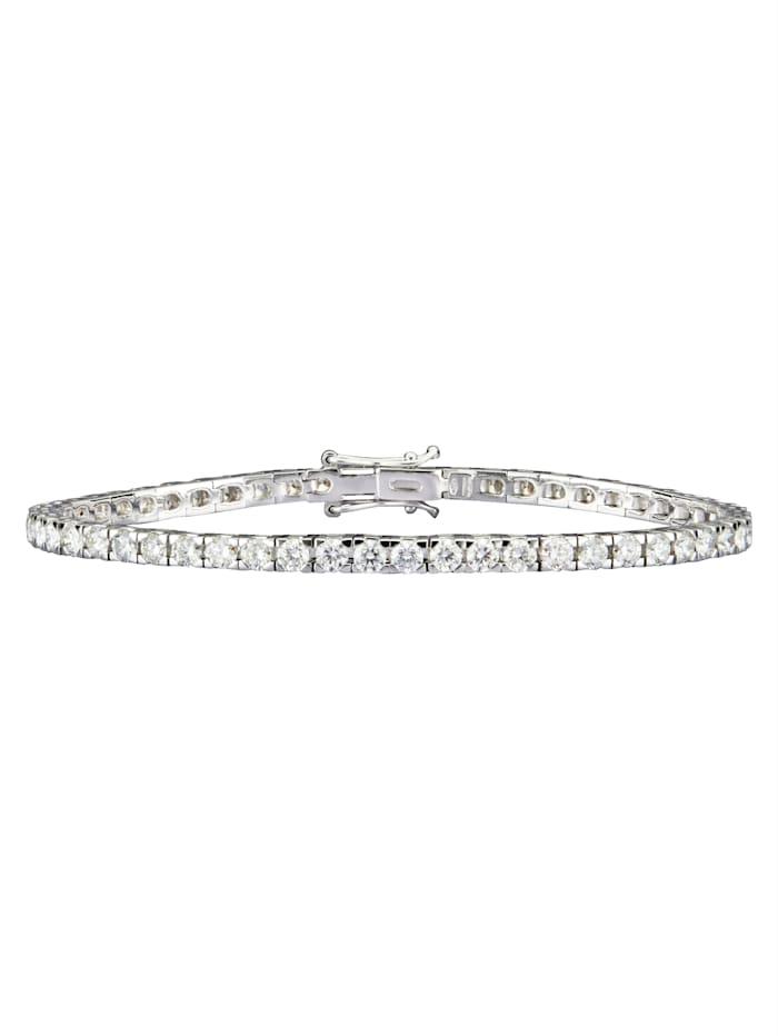 Diemer Diamant Tennisarmband mit Brillanten, ca. 5 ct., Weiß