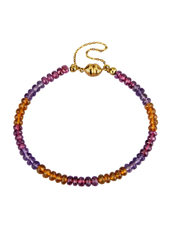 Bracelet avec pierres de couleur, Rouge