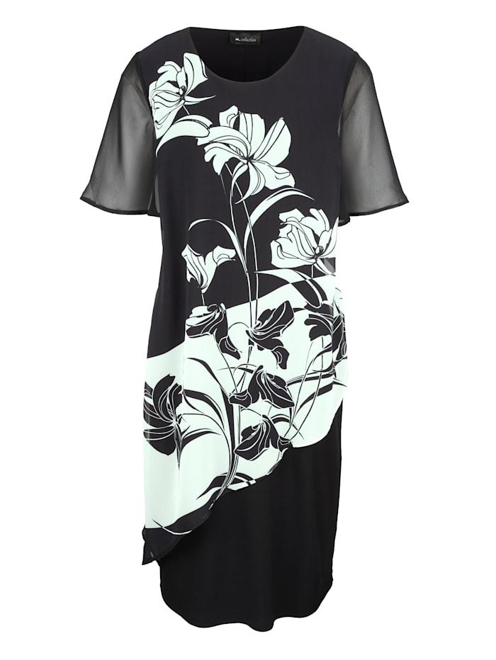 Kleid vorne mit Blumendruck