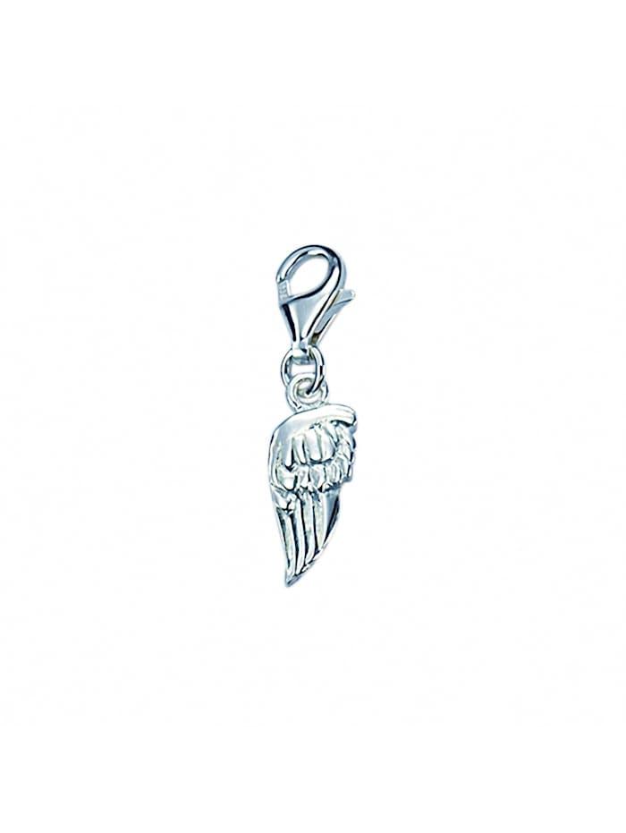 1001 Diamonds Damen Silberschmuck 925 Silber Charms Anhänger Fluegel, silber