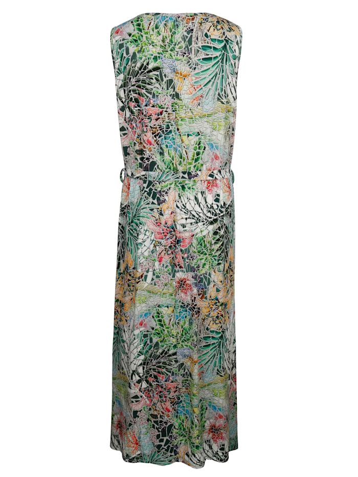 Maxi-jurk met multicolor dessin