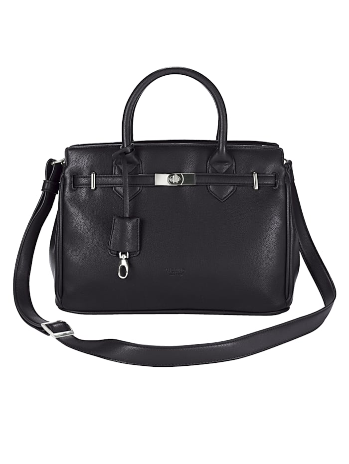 Picard Handbag with ribbon and twist clasp, Black