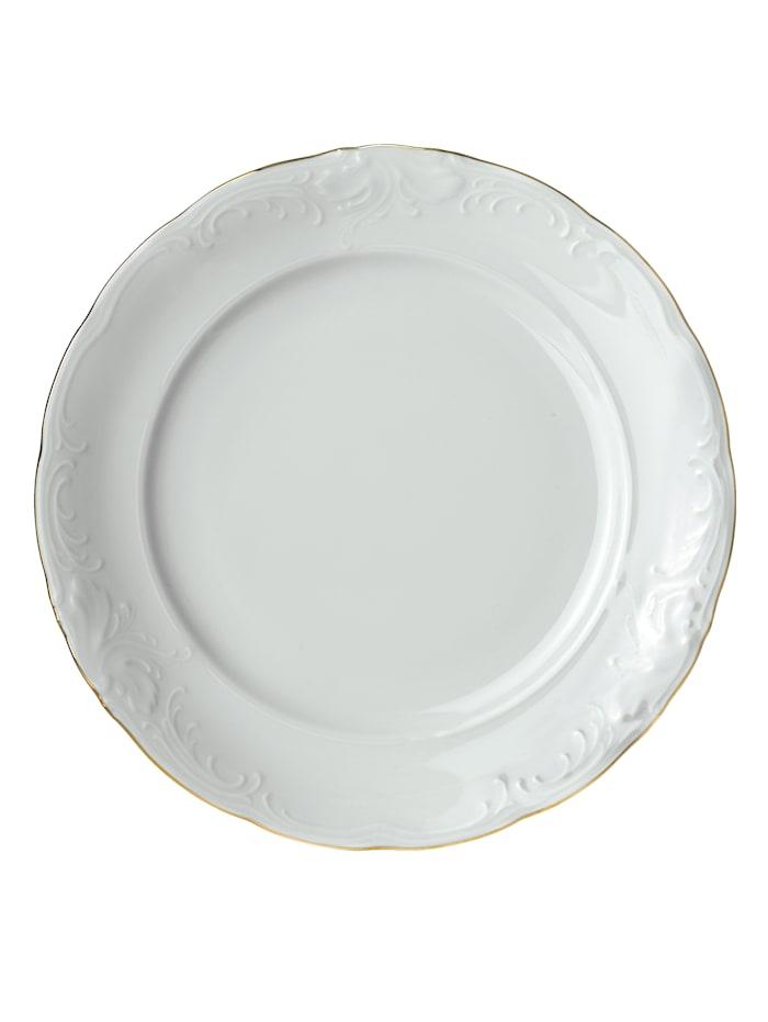 Kristoff Ruokailuastiasto, 12-os., valkoinen/kullanvärinen