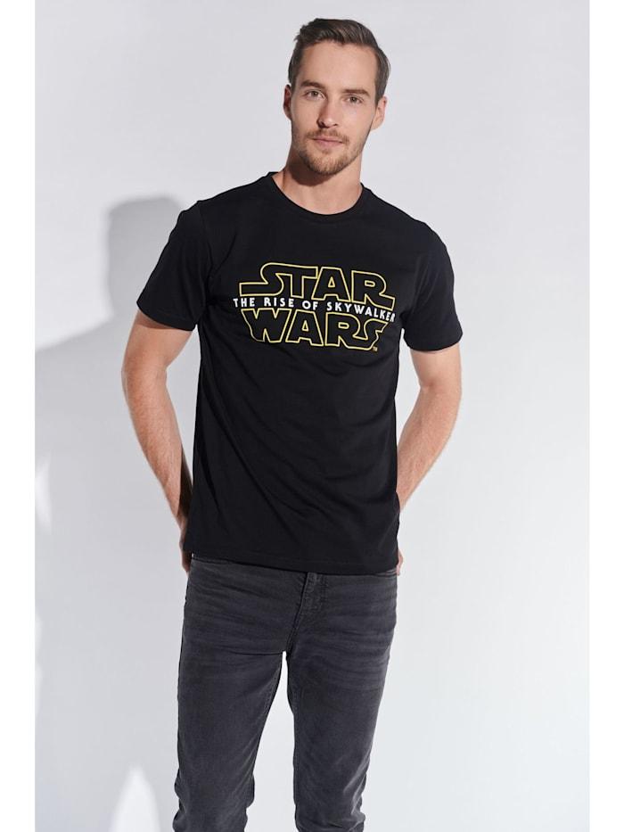 course Herren T-Shirt mit Star Wars Logo, Schwarz