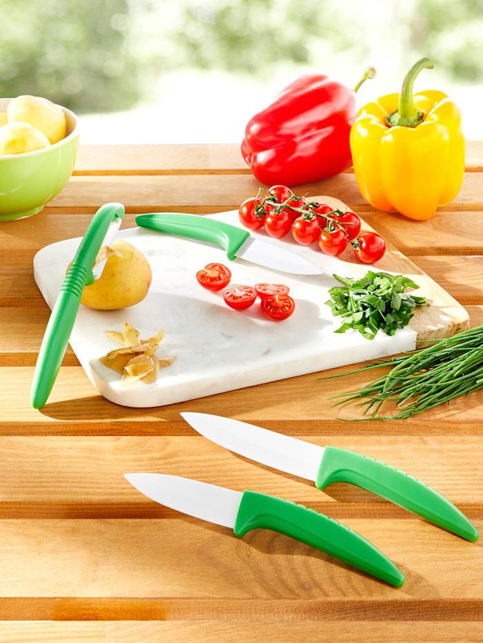 3tlg. Messerset mit Peeler