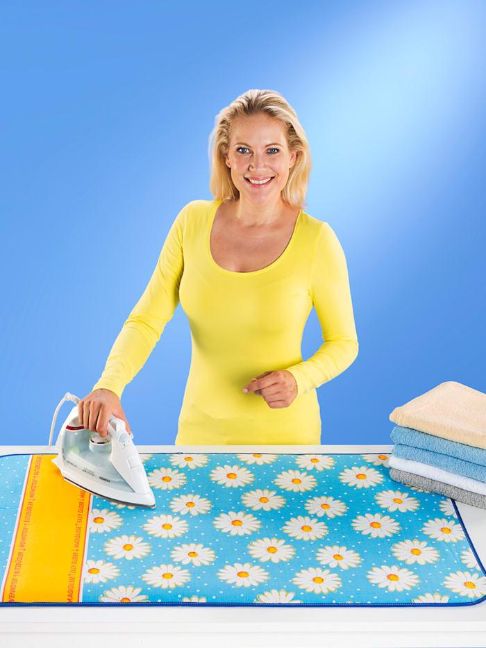 Wenko Nappede repassage Margie, coloris bleu clair avec motif marguerites