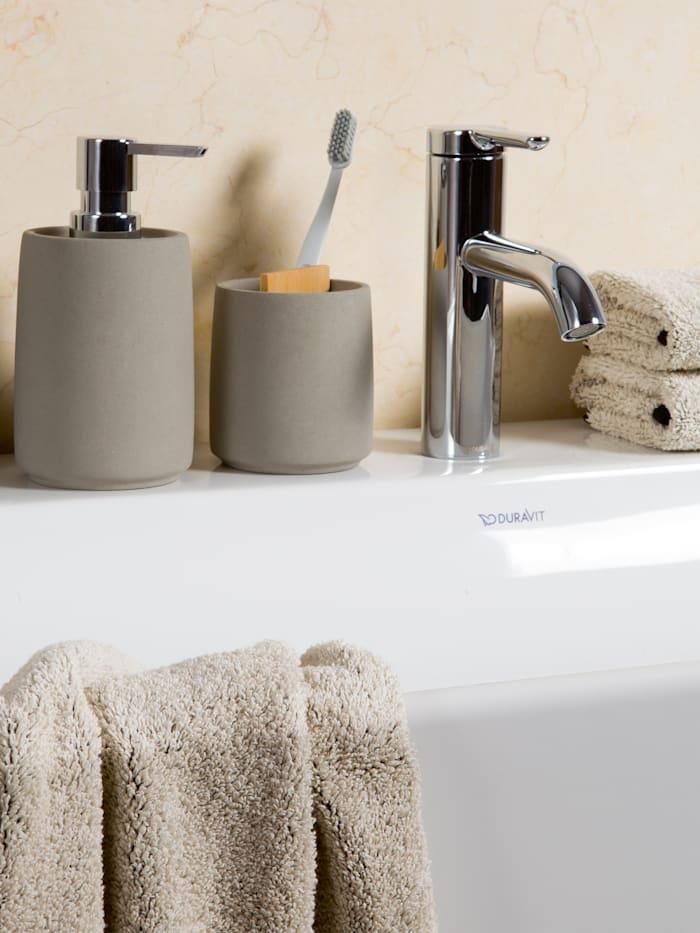 Toilettenbürste Cement 11x11x43cm , Zement