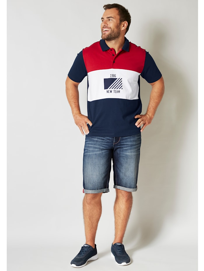 Poloshirt van single jersey