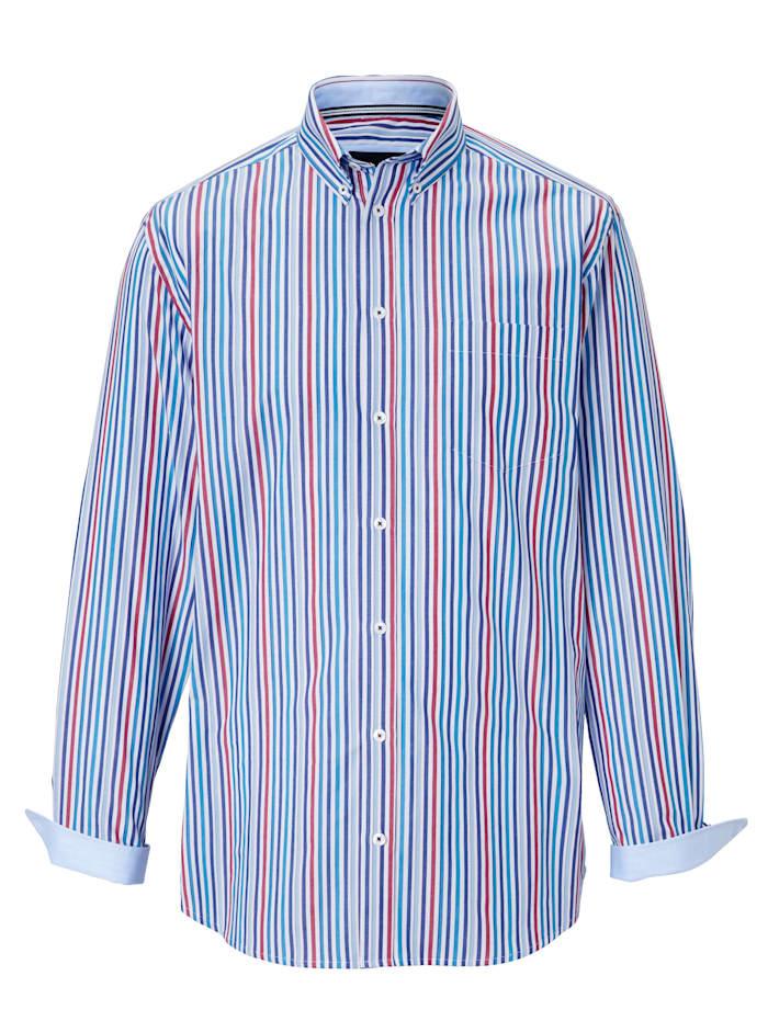 Skjorte med garnfarget stripemønster