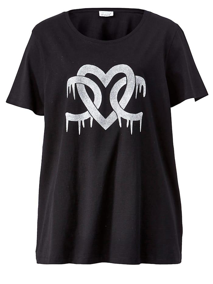 Shirt met glittermotief