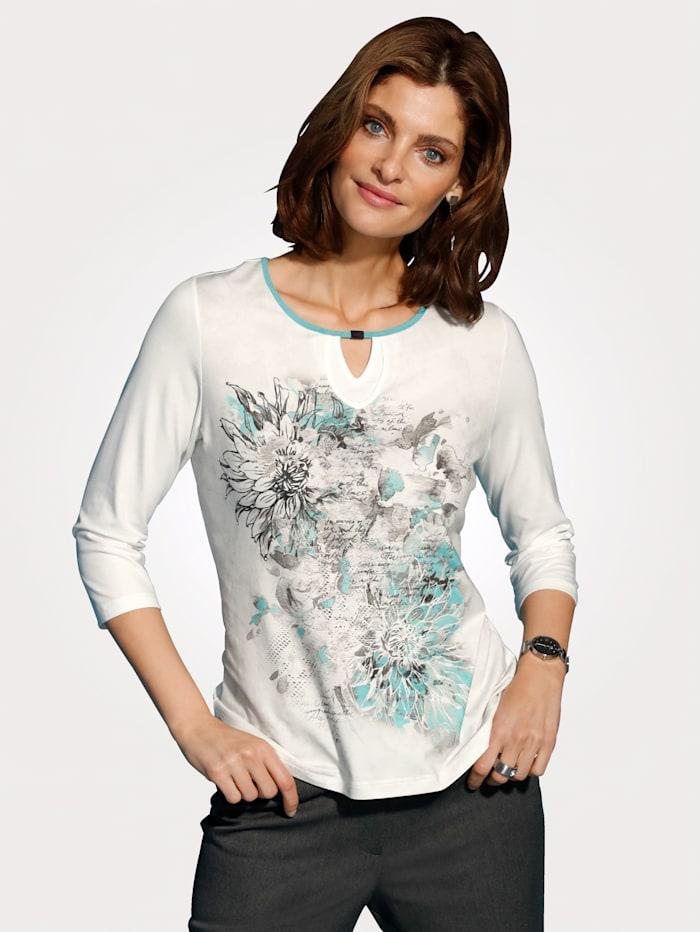 MONA Shirt mit Strasszier, Mintgrün/Ecru