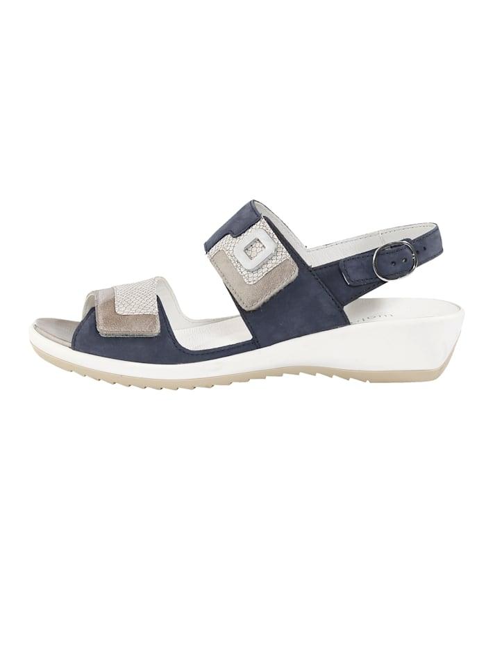 Sandale mit verstellbaren Klettriegeln