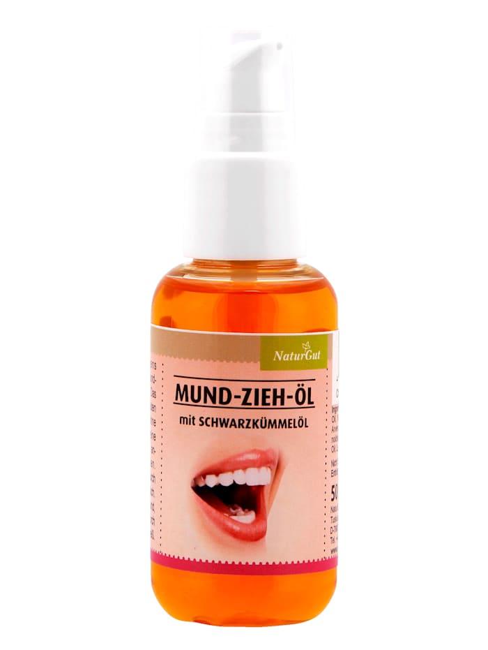 NaturGut Mund-Zieh-Öl mit Schwarzkümmelöl, weiß