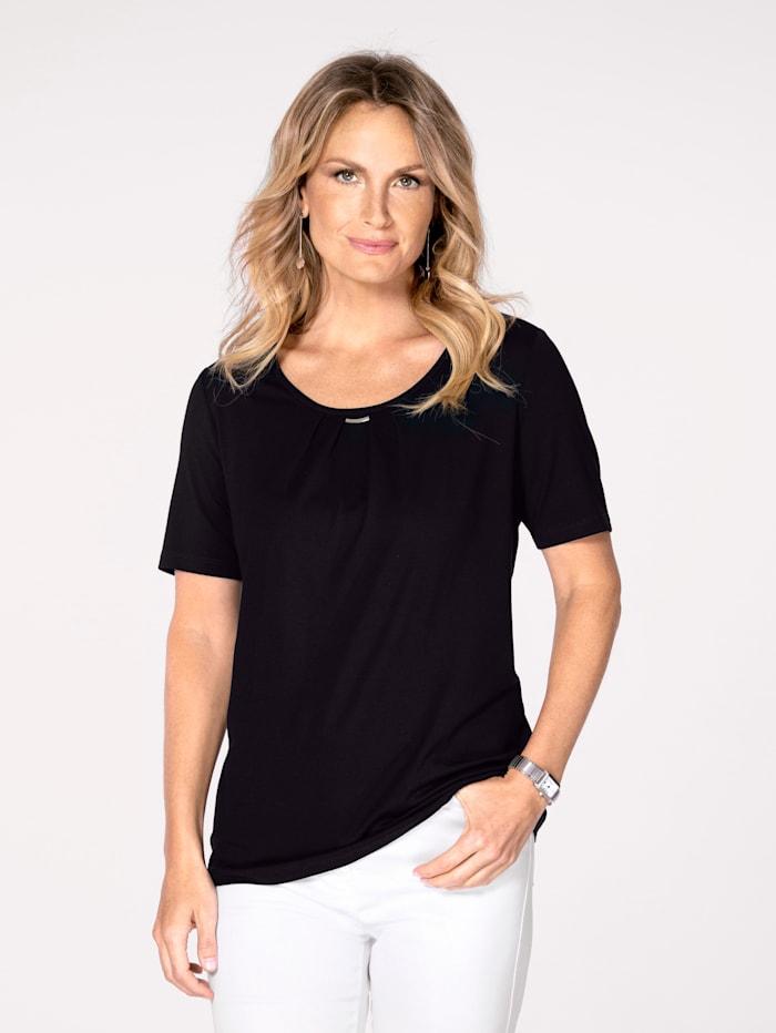 MONA Shirt aus Feinjersey, Marineblau