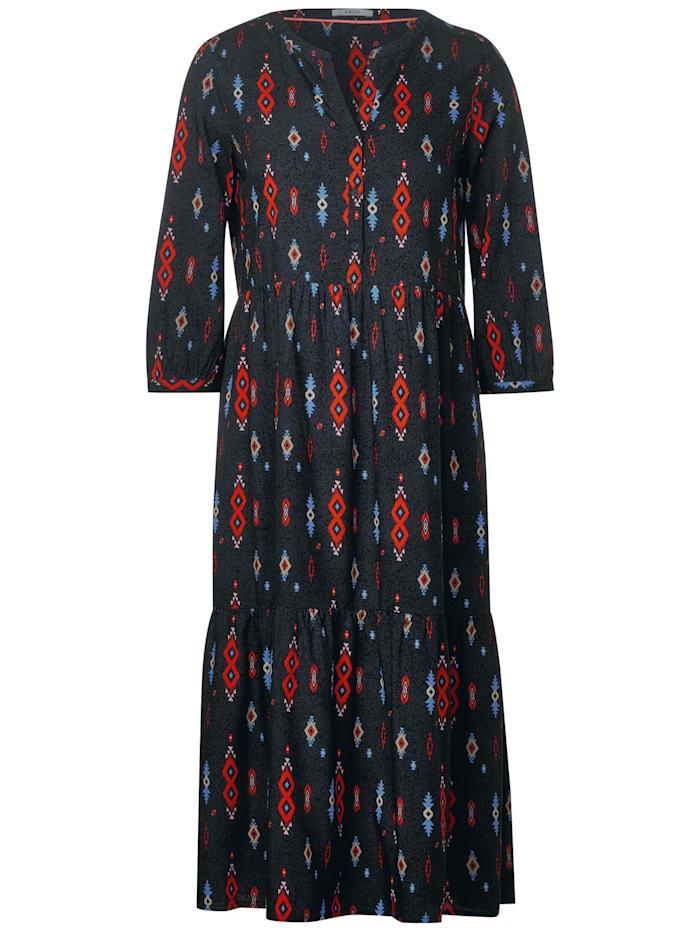 Cecil Midi-Kleid mit Ikat-Print, carbon grey