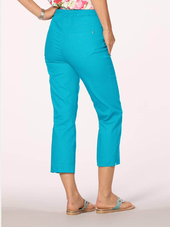 Pull-on trousers with elasticated waist