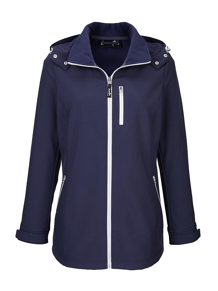 Dress In Jacke mit abnehmbarer Kapuze, Marineblau