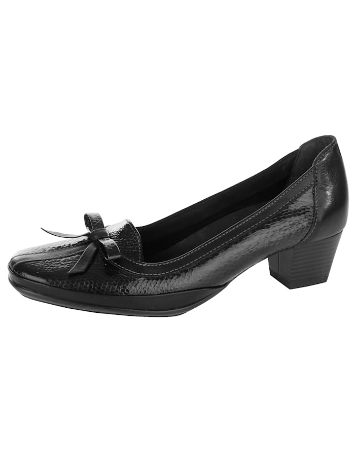 Naturläufer Court shoes made of super flexible leather, Black