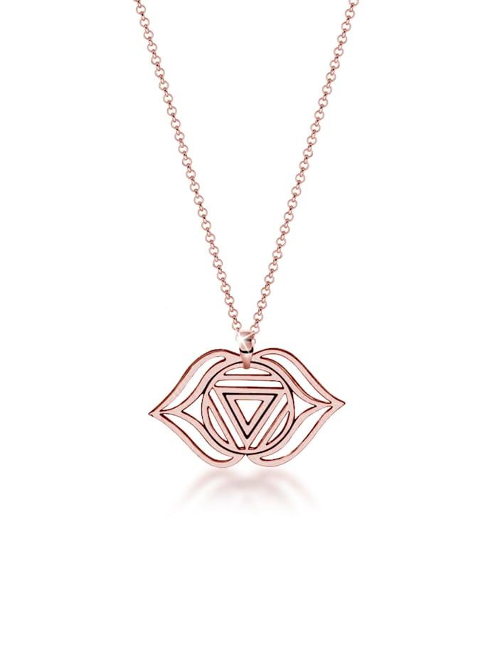 Nenalina Halskette Ajna Chakra Spirit Anhänger Erbskette 925Er Silber, Rosegold