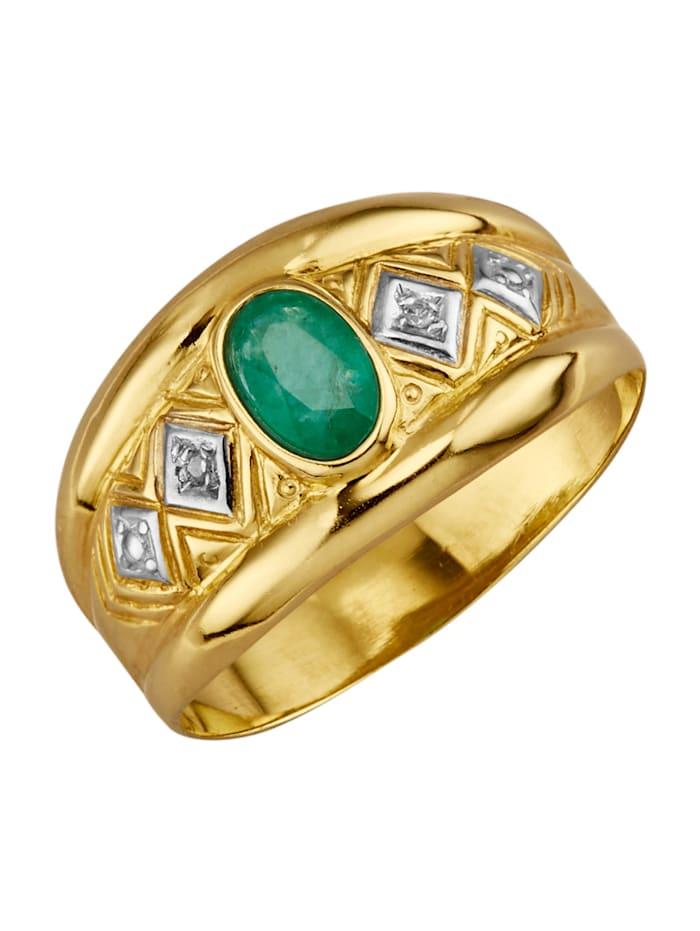 Ring av silver 925, Grön