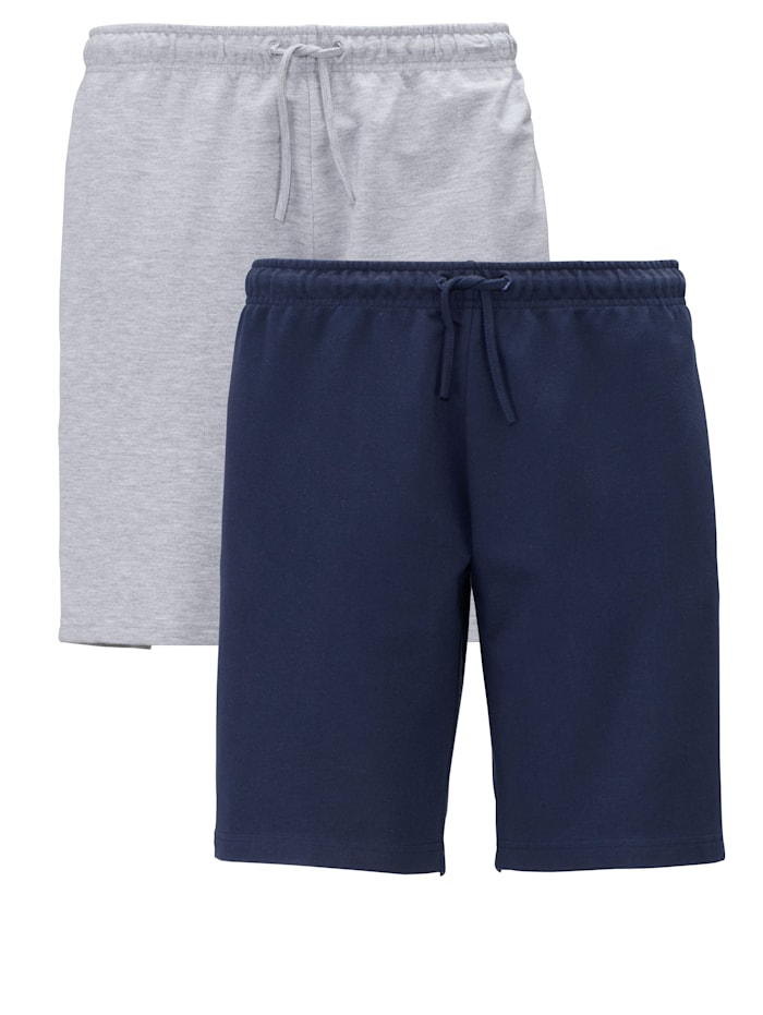 Men Plus Shorts i 2-pack, Marinblå/Grå