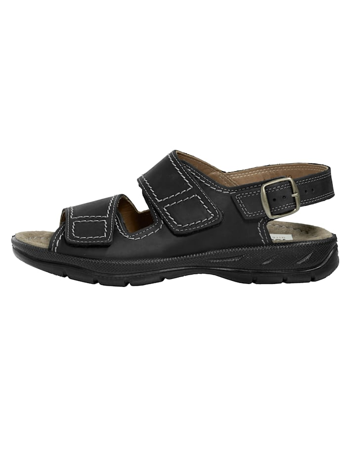 Sandaal van zacht nubuckleer