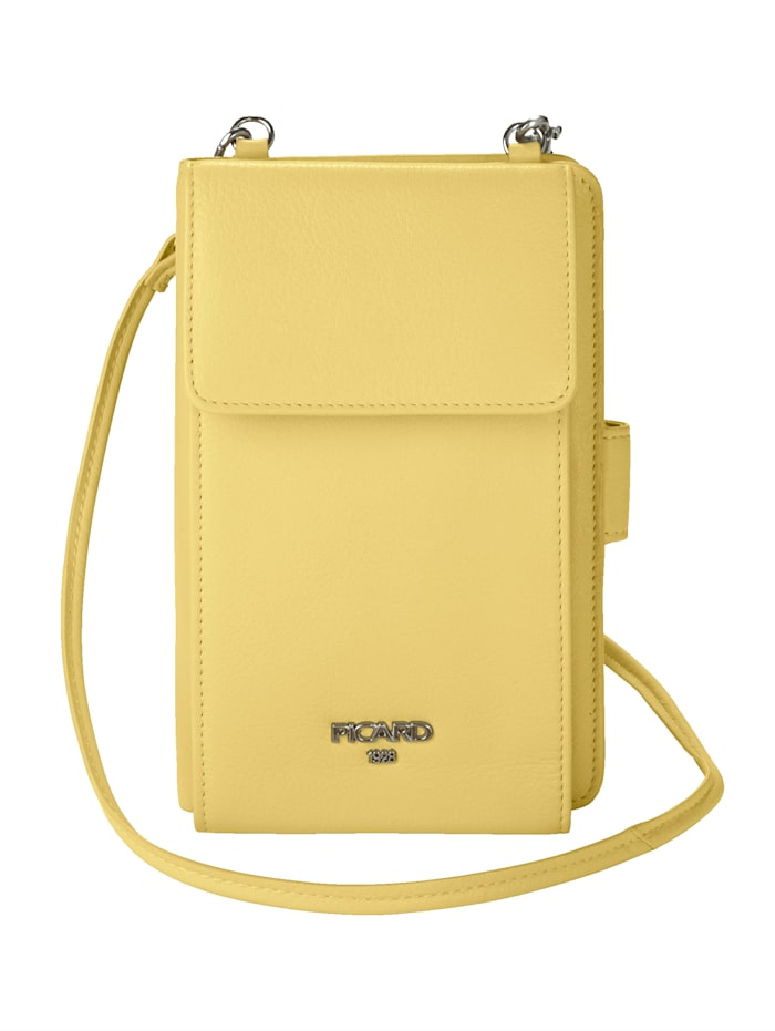 Picard Phone bag with an integrated purse, Yellow