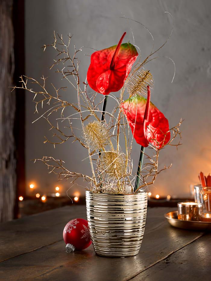 Blomsterdekorasjon -Anturie-, rød