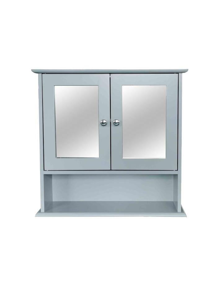 HTI-Line Spiegelschrank Sarah mit 2 Türen, Grau