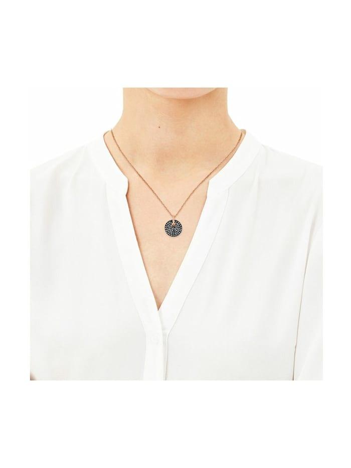 Kette mit Anhänger für Damen, Edelstahl, Swarovski Kristall®
