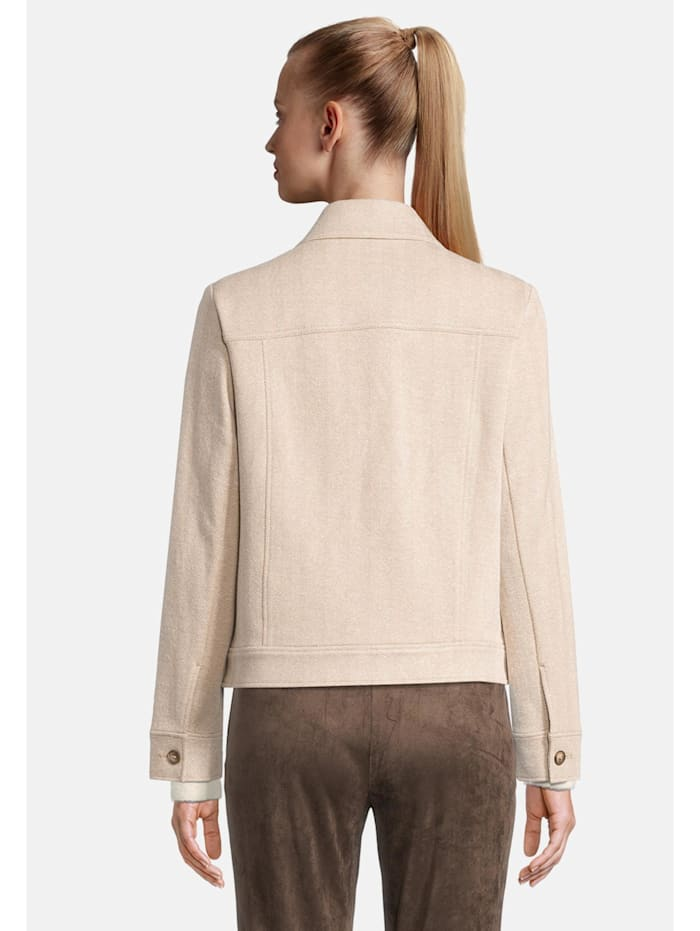 Blazerjacke mit Kragen Taschen