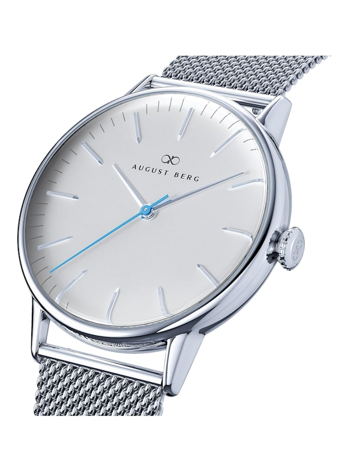 Uhr Serenity Sky Blue Silver Silver Mesh 40mm