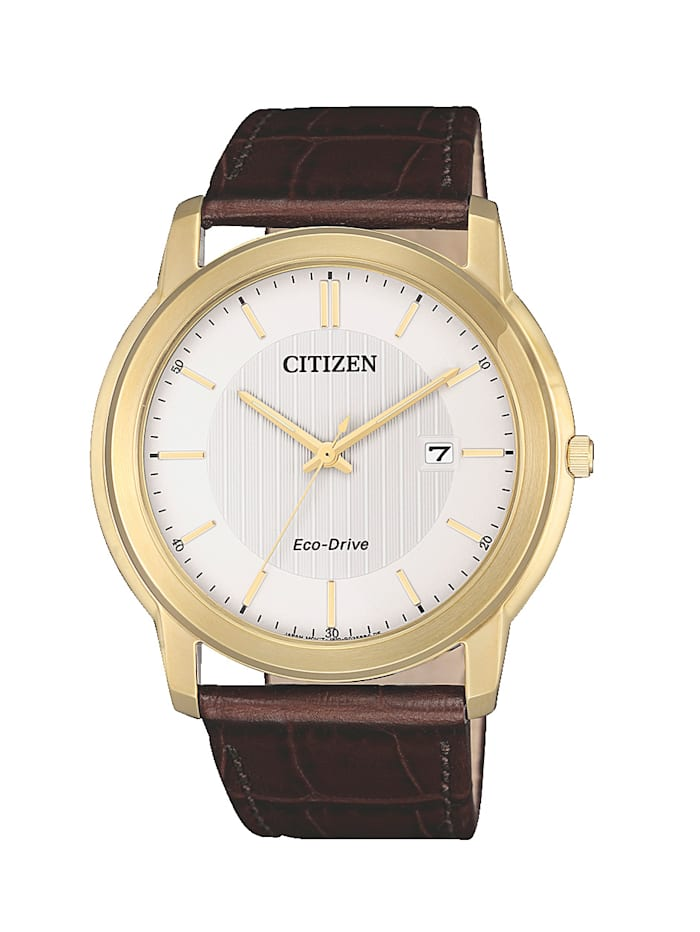 Citizen Herrenuhr, Eco-Drive AW1212-10A, Braun