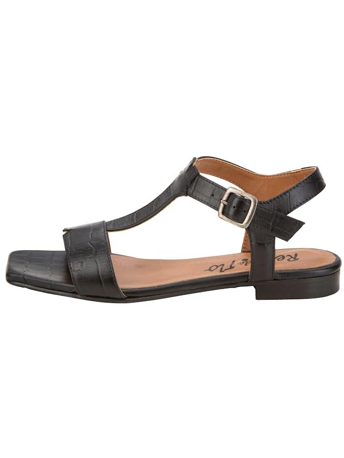 Sandale in wunderschöner Kroko-Optik