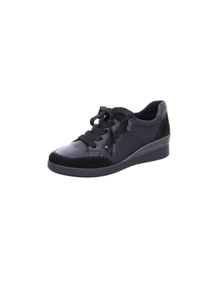 Ara Damen Schnürschuh in schwarz, schwarz