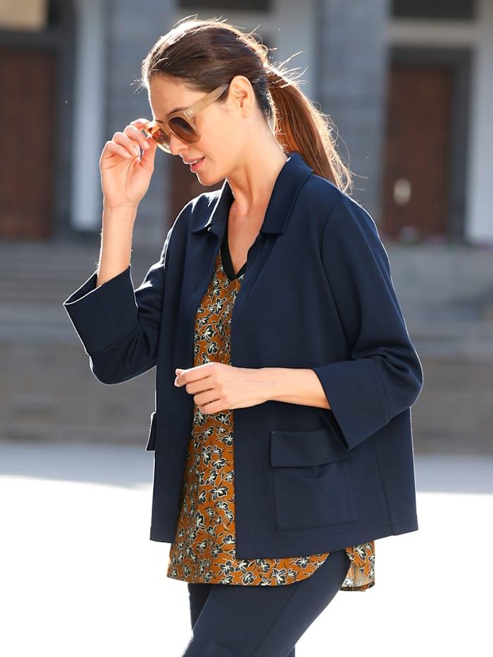 Laura Kent Blazer in modisch kürzerer Form, Marineblau