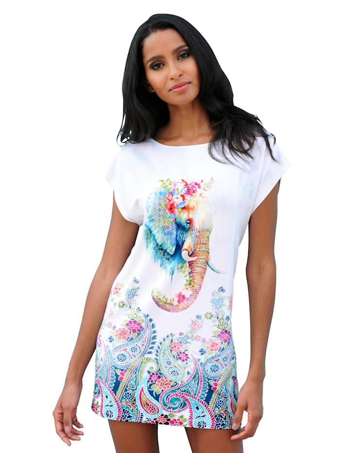 Alba Moda Shirt met olifantenprint, Turquoise