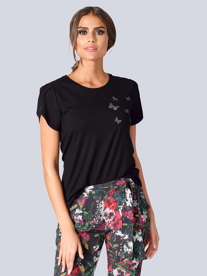Shirt mit aufwendig verziertem Schmetterlingsmotiv