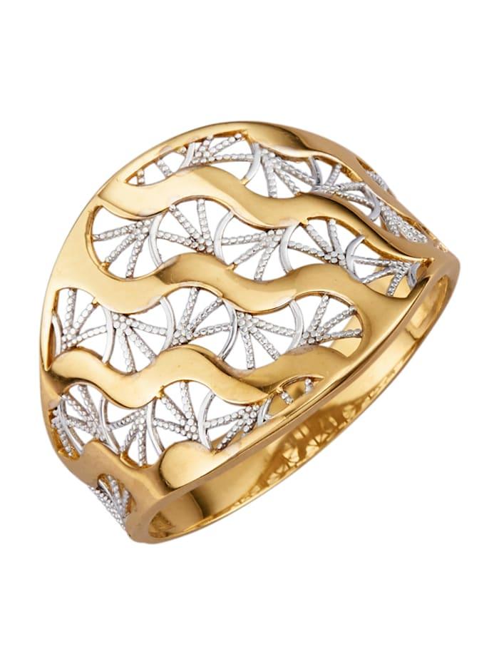 Filigraaninen kultasormus, Keltakullanvärinen