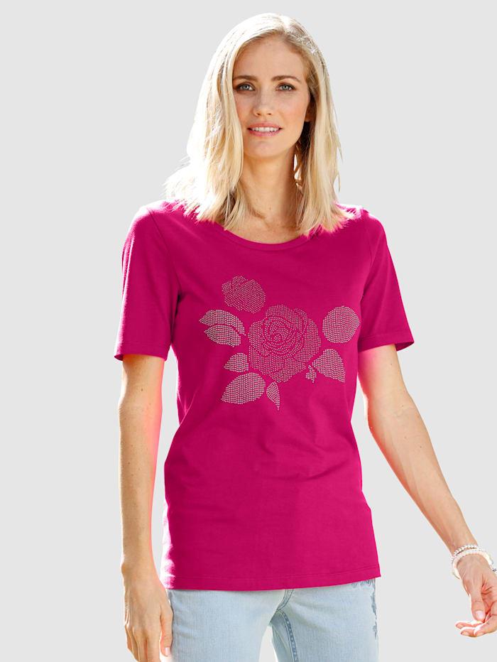 Dress In Shirt mit Rosenmotiv, Pink