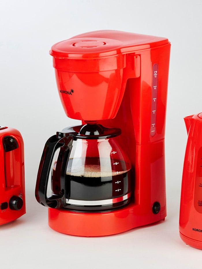 Kaffeeautomat 10118, für 12 Tassen, rot