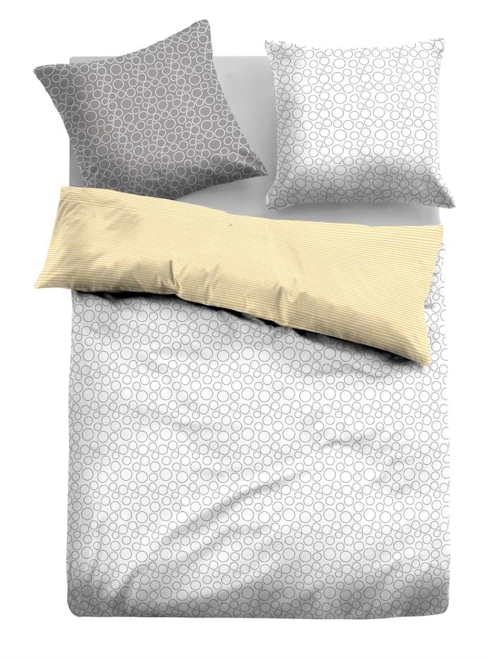 Parure de lit 2 pièces 'Heike' en linon de coton
