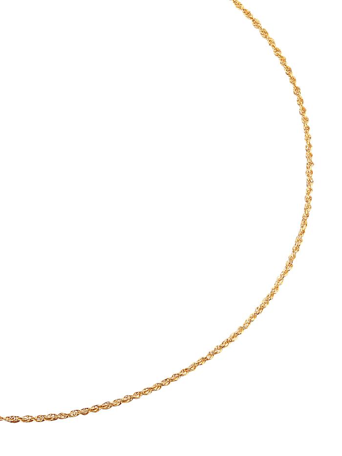 Dreifachankerkette in Gelbgold, Gelb