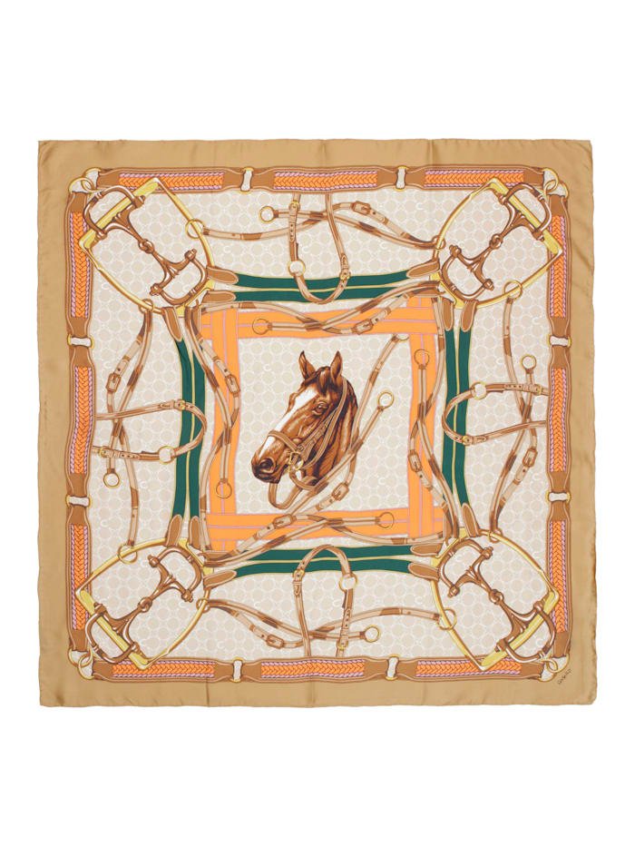 Großes Seidentuch mit klassischem Foulard-Muster