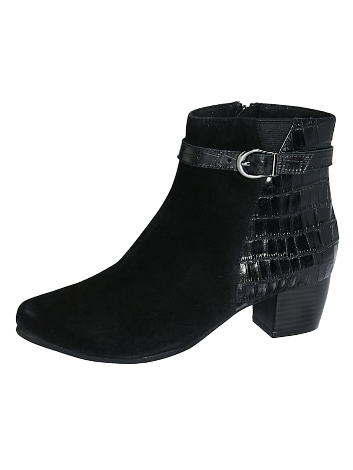 MONA Ankle boots made from the finest Nappa leather, Black
